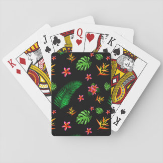 Women's Trendy Tropical Flower Leaves Home Decor Playing Cards