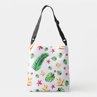 Women's Trendy Tropical Leaf Flower Tote Bag