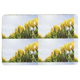 women's trendy yellow rose flower floor  mat