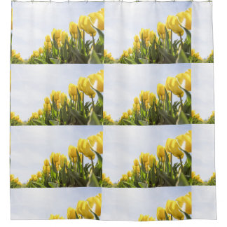 women's trendy yellow rose flower shower curtain