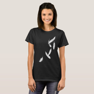 Womens tshirt with Falling Feathers