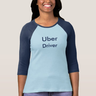 Women's Uber Driver 2 Tone T-Shirt Cotton Blue