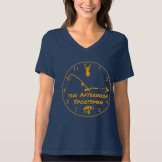 Women's V-Neck Afternoon Sportsmen Logo T-Shirt