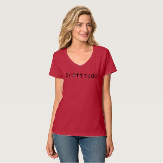 Women's v-neck At Peace GRATITUDE tshirt