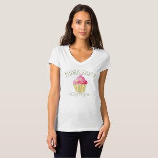Women's V-Neck Audra Bakes KBC T-Shirt