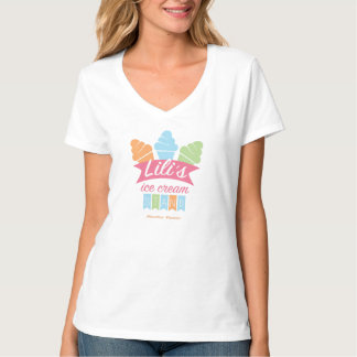 Women's V-Neck T-shirt - Lili's Ice Cream Stand