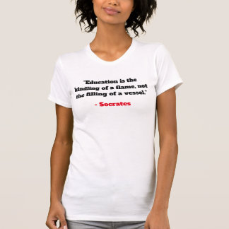 Womens V-Neck Tee - Socrates Quotes