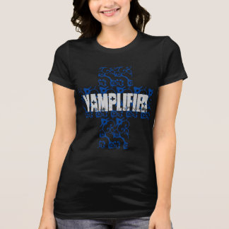 Women's Vamplified Cross T-shirt (Blue)