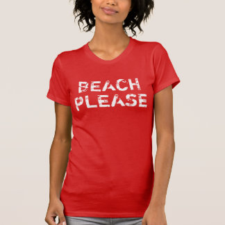 Women's Vintage Beach Please T-Shirt
