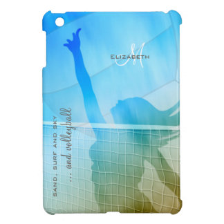 women's volleyball at the beach sand surf sky iPad mini cover