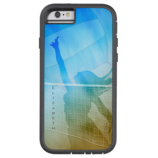 women's volleyball at the beach sand surf sky tough xtreme iPhone 6 case