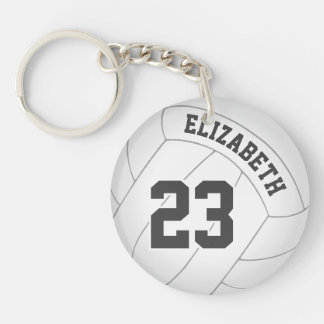 women's volleyball player team name backpack tag key ring