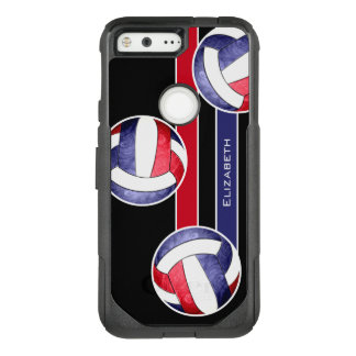women's volleyball red white blue OtterBox commuter google pixel case