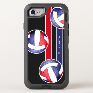 women's volleyball red white blue OtterBox defender iPhone 8/7 case