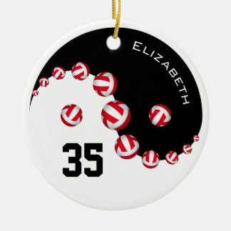 Women's volleyball you choose any color Yin Yang Ceramic Ornament