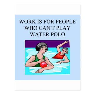 women's water polo postcard