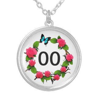 Womens Whimsical Rose 18th 21st 30th 40th Birthday Silver Plated Necklace