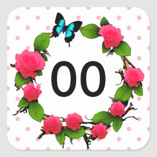 Womens Whimsical Rose 85th 88th 89th 90th Birthday Square Sticker