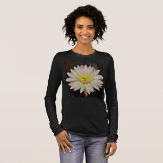 Women's White and Yellow Cactus Flower Tee