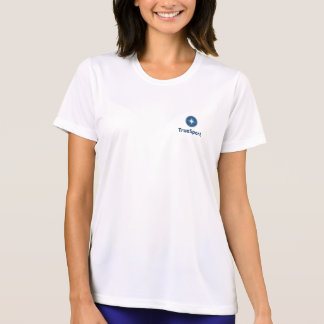 Women's White Dry Fit Shirt w/ Vertical Logo