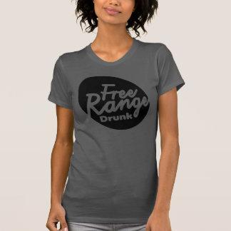 Women's White Free Range Drunk Shirt. Tee Shirts
