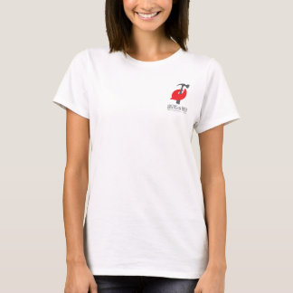 Womens white Pinchy T T-Shirt