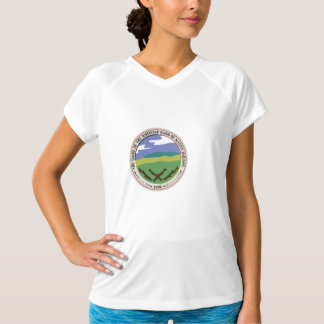 Women's Whitetop Double-Dry V-Neck T-Shirt