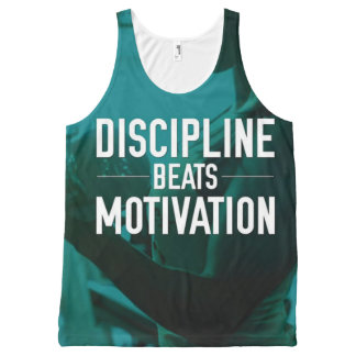 Women's Workout - Discipline Beats Motivation All-Over Print Singlet
