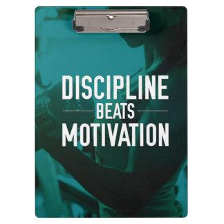 Women's Workout - Discipline Beats Motivation Clipboard