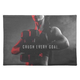 Women's Workout Inspiration - Crush Every Goal Placemat