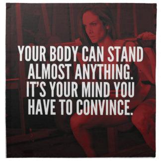 Women's Workout Inspirational Words Napkin