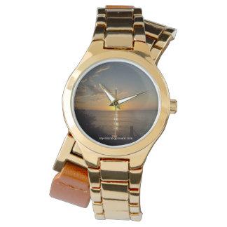 Women's Wrap Around Jamaican Sunset Gold Watch