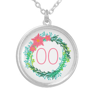 Women's Wreath 18th 21st 30th 40th 50th Birthday Silver Plated Necklace