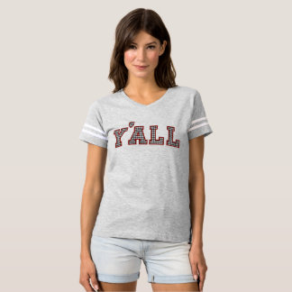 Women's Y'ALL Collegiate Collection Houndstooth T-Shirt