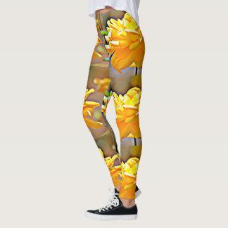 "Women's ""Yellow Chromatic Rose"" Leggings"