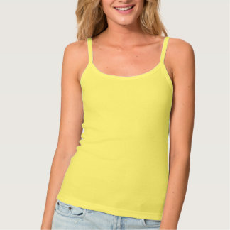 Women's Yellow Tank Top with Sexy Center Mandala
