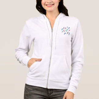 Women's zip hoodie with feathers