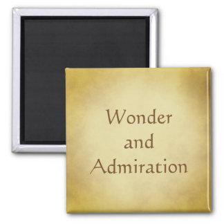 Wonder and Admiration Gold design Square Magnet