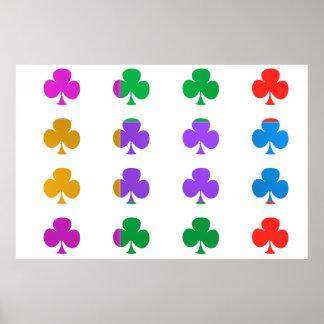 WONDER Color Mania :POKER CLUB Print