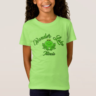 Wonder Frog Green Girls' Fine Jersey T-Shirt