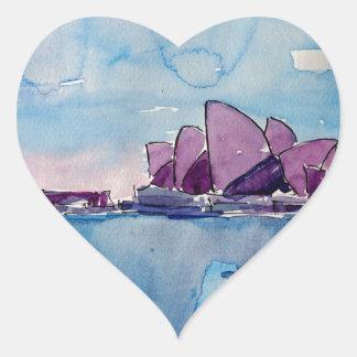 Wonder from Downunder Sydney Heart Sticker