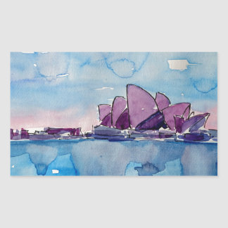 Wonder from Downunder Sydney Rectangular Sticker