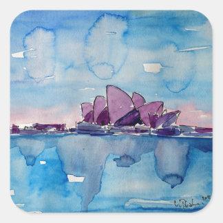 Wonder from Downunder Sydney Square Sticker