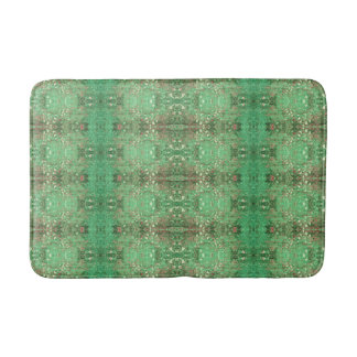 'Wonder' Green and Red Pattern Bath Mat