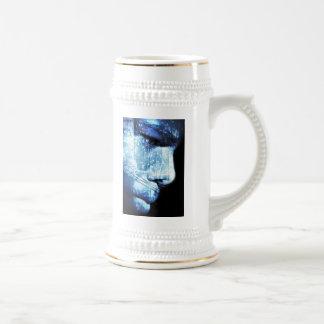 wonder in blue coffee mugs