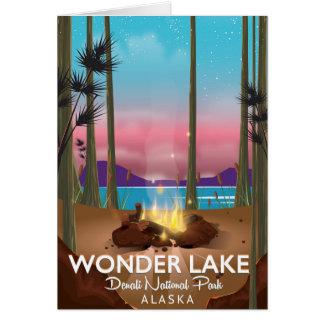 Wonder Lake, Denali national park Alaska Card