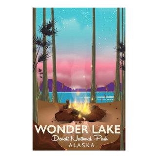 Wonder Lake, Denali national park Alaska Stationery