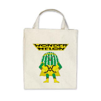 Wonder Melon Tote Bags