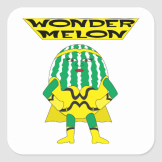 Wonder Melon Square Stickers
