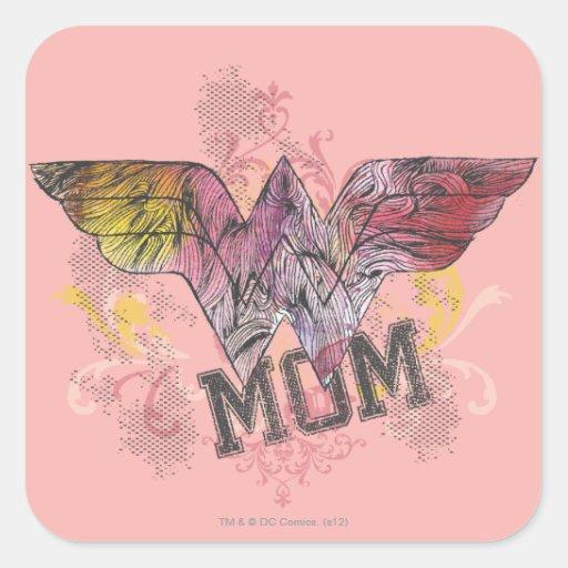 Wonder Mom Mixed Media Sticker